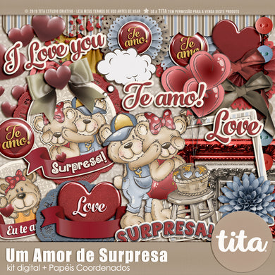 Um amor de surpresa - Kit digital