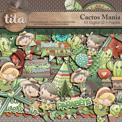 Cactos Mania - Kit Digital 02