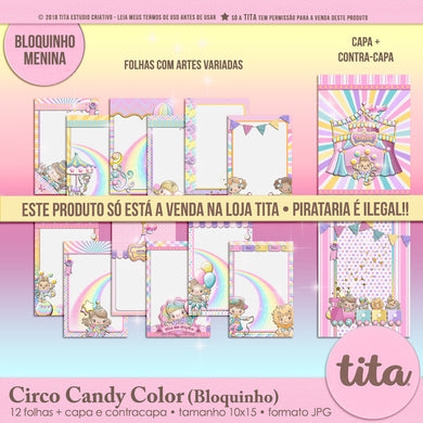 Circo Candy Color -  Bloquinho
