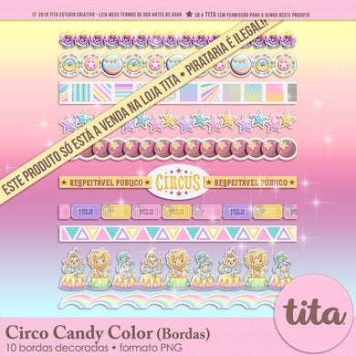Circo Candy Color - Bordas