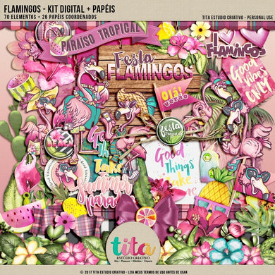 Flamingos - Kit Digital 01
