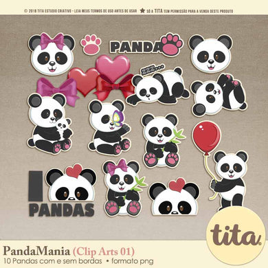 PandaMania - Clip Arts 01