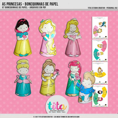 As Princesas - Bonecas de Papel