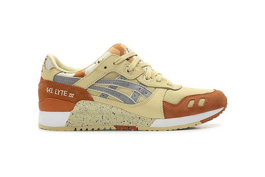 New Asic Gel Lyte III Desert and Tiger Camo Sneakers