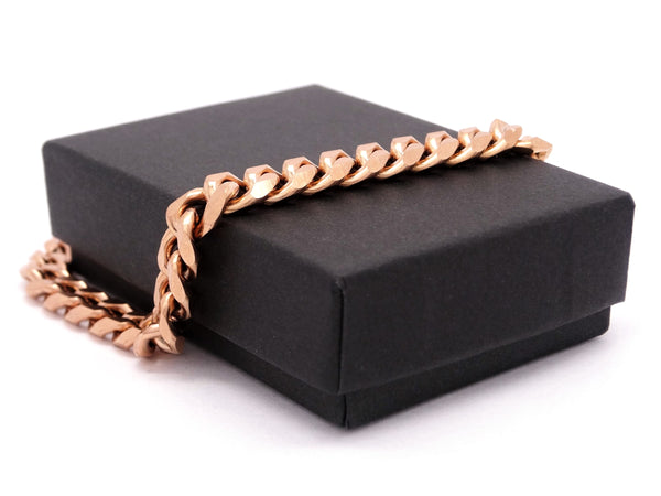 Rose gold curb link bracelet GIFT BOX