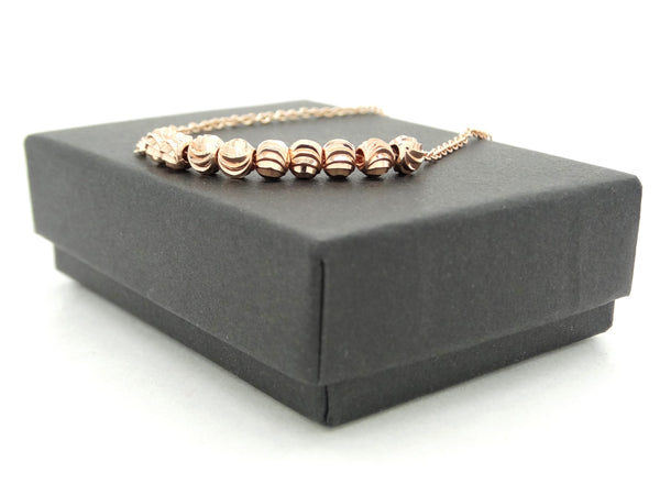 Rose gold bead chain anklet GIFT BOX