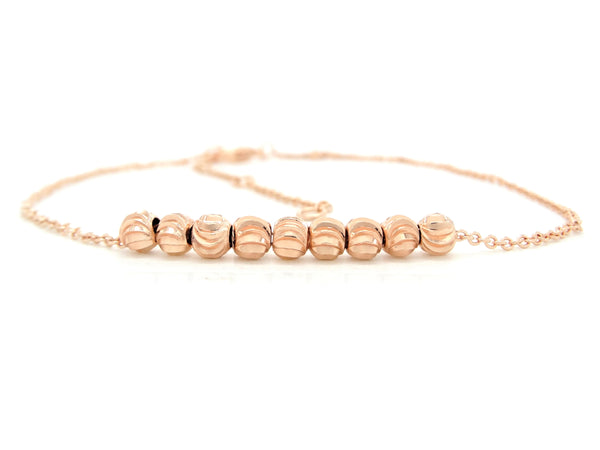 Rose gold bead chain anklet MAIN