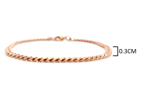 Rose gold thin chain anklet MEASUREMENT
