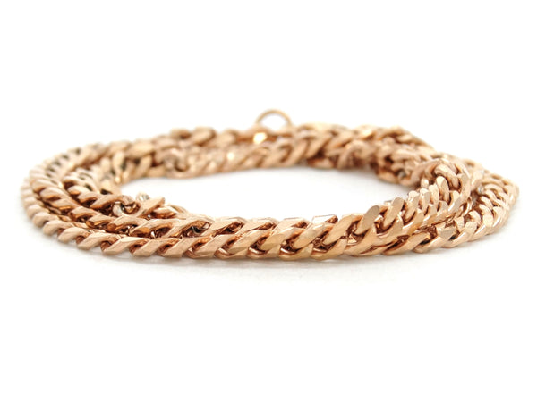 Rose gold thin chain anklet DISPLAY