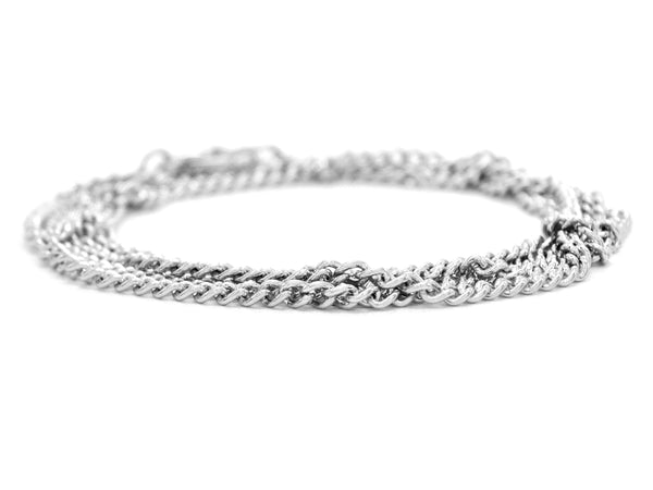 Sterling silver thin chain anklet DISPLAY