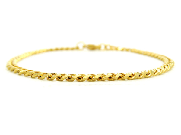 Yellow gold thin chain anklet MAIN