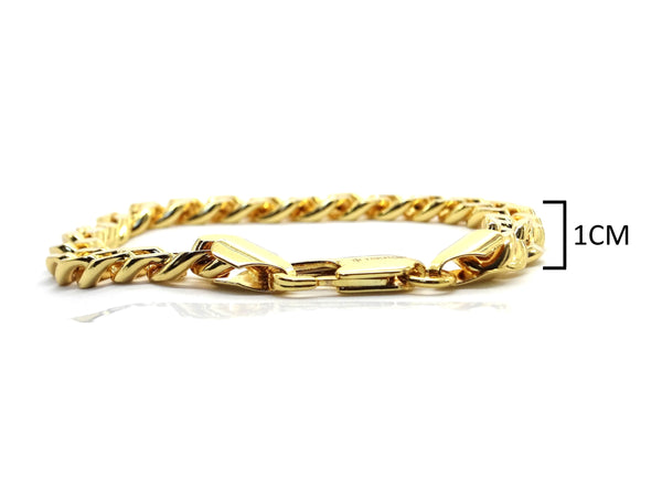 Gold curb link bracelet MEASUREMENT