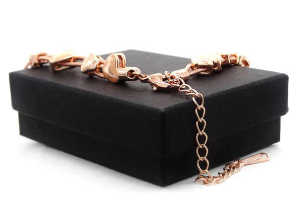 Rose gold heart bracelet GIFT BOX