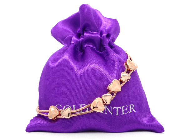 Rose gold heart bracelet GIFT BAG