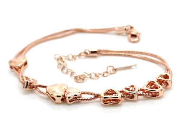 Rose gold heart bracelet BACK