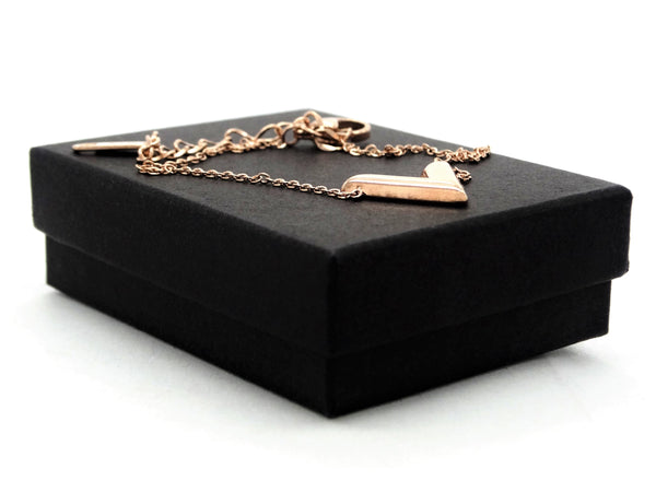 Rose gold letter V bracelet GIFT BOX
