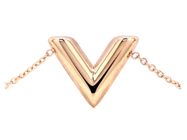 Rose gold letter V bracelet MAIN