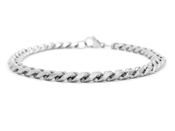 Stainless steel curb link bracelet MAIN