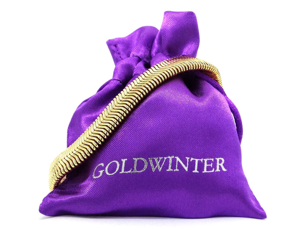 Gold snake chain bracelet GIFT BAG