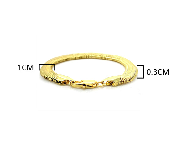 Gold snake chain bracelet MEASUREMENT