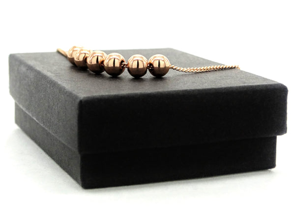 Rose gold bead chain bracelet GIFT BOX