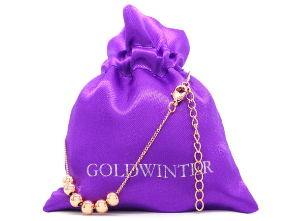 Rose gold bead chain bracelet GIFT BAG