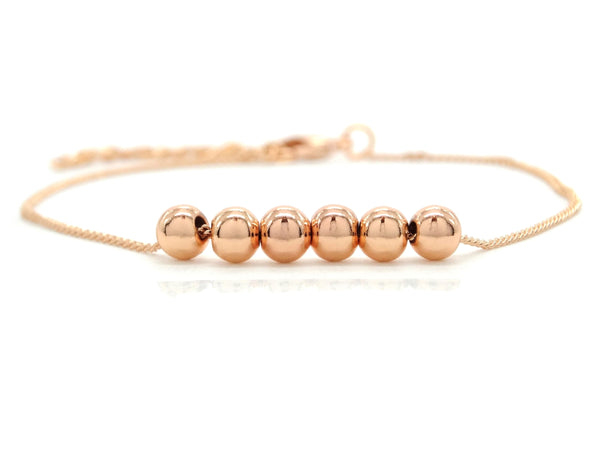 Rose gold bead chain bracelet MAIN