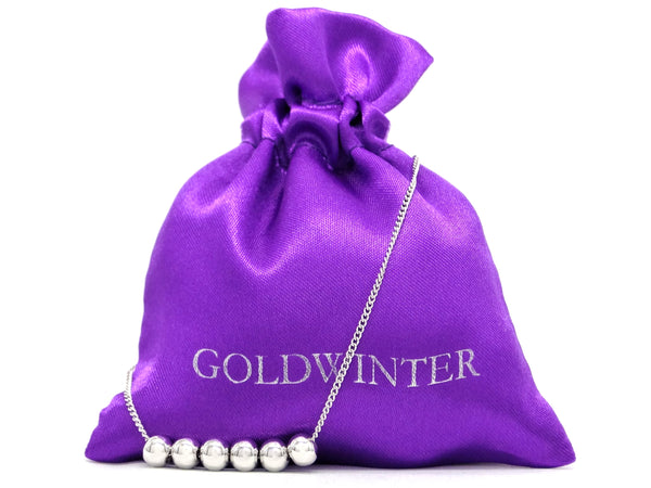 White gold bead chain bracelet GIFT BAG