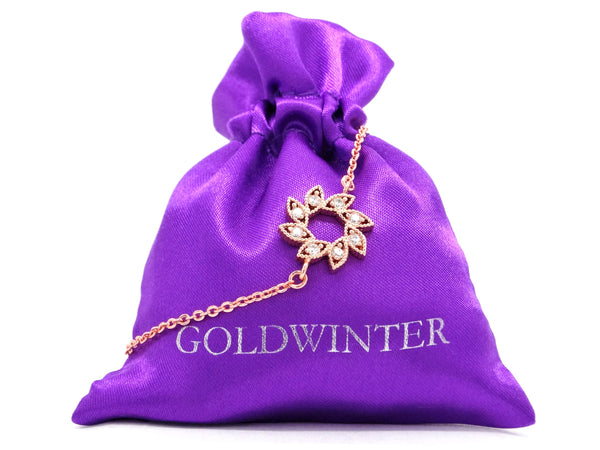 Rose gold sun symbol bracelet GIFT BAG