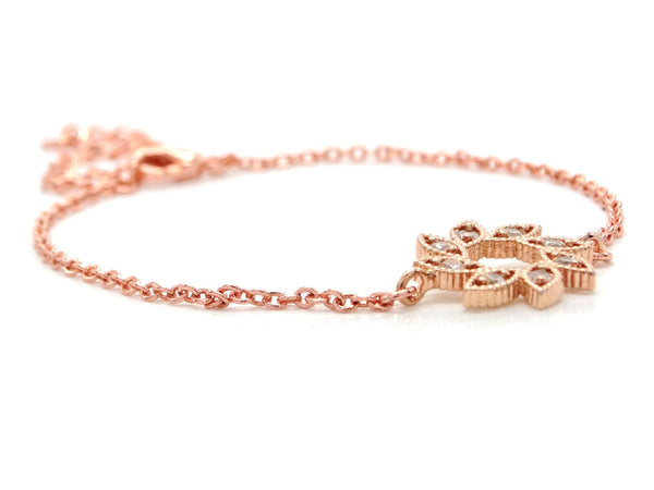 Rose gold sun symbol bracelet BACK