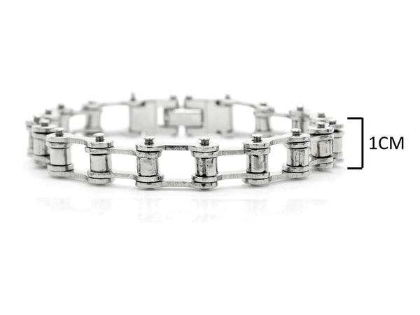 Stainless steel bike chain bracelet MEASUREMENT