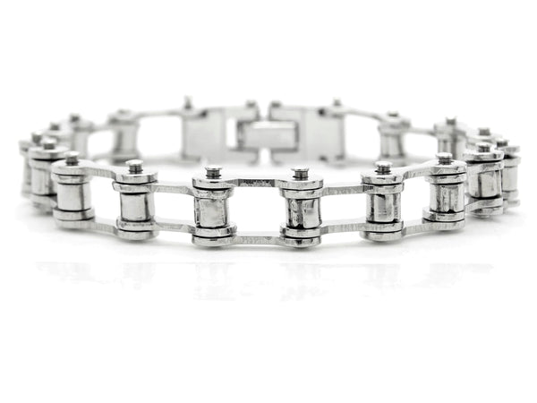 Stainless steel bike chain bracelet MAIN