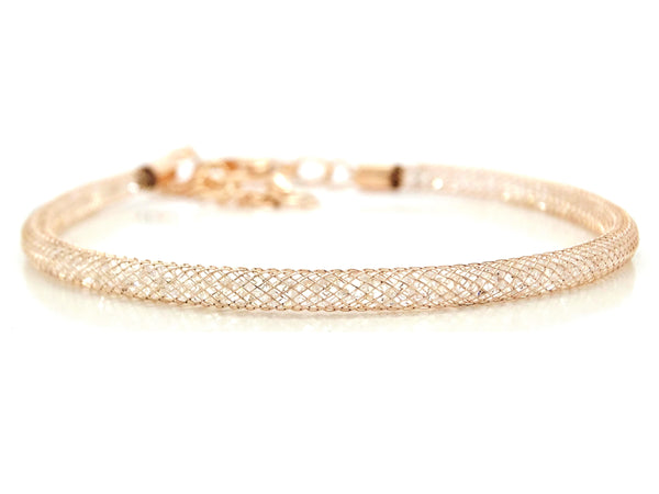 Gold mesh with gems inside bracelet MAIN