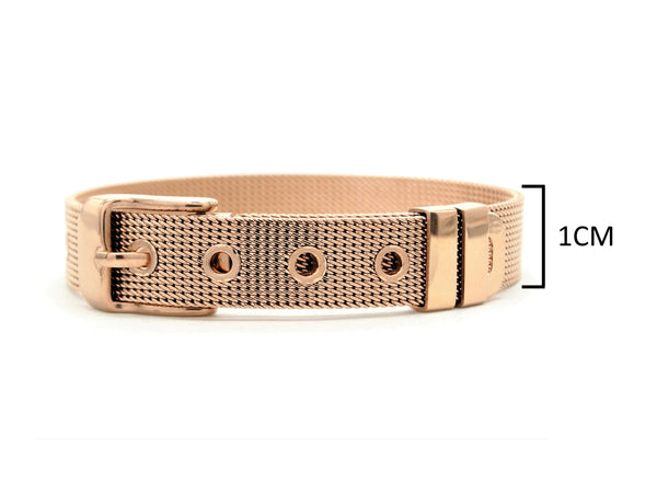 Rose gold belt bracelet MEASUREMENT
