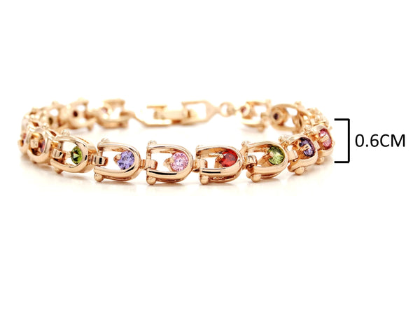 Rose gold different colours bracelet MEASUREMENT
