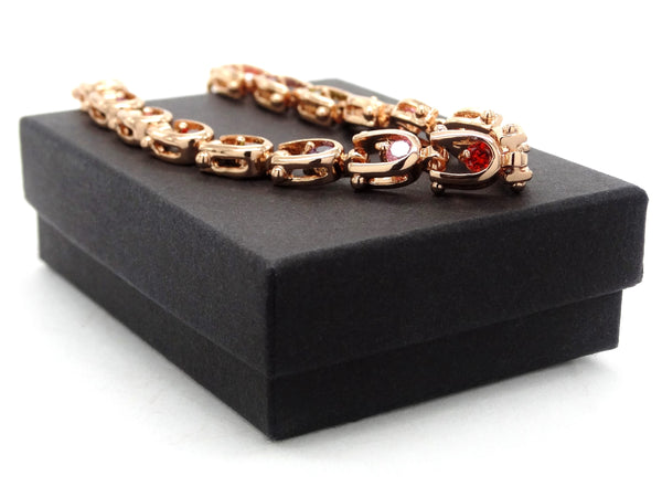 Rose gold different colours bracelet GIFT BOX
