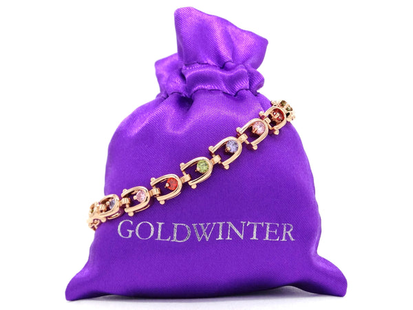 Rose gold different colours bracelet GIFT BAG