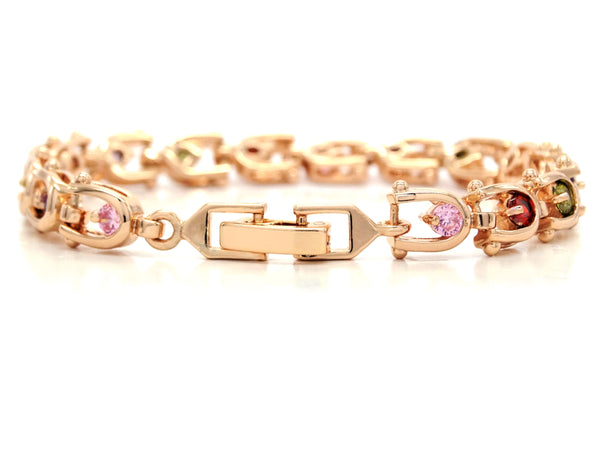 Rose gold different colours bracelet BACK