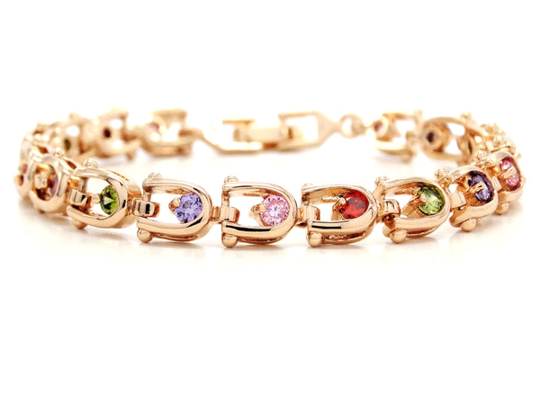 Rose gold different colours bracelet MAIN