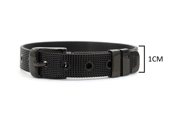 Black stainless steel belt bracelet MEASUREMENT