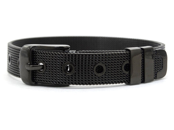 Black stainless steel belt bracelet MAIN