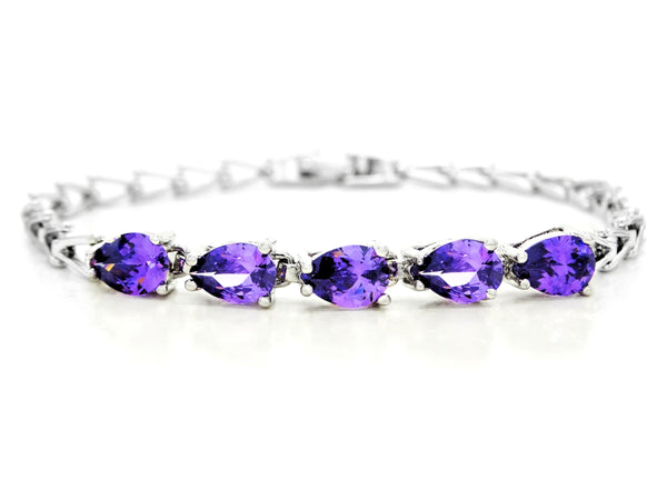Sterling silver purple gems bracelet MAIN