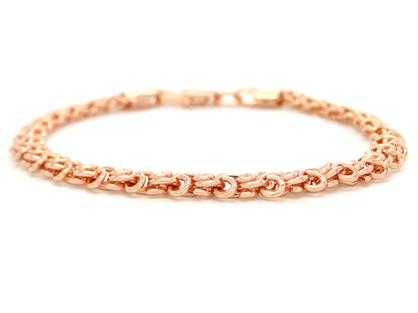 Rose gold interweaving chain bracelet MAIN