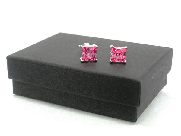 Pink princess stud earrings GIFT BOX