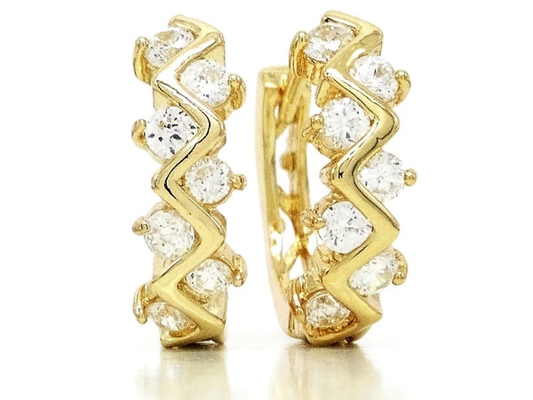 Gold designer hoop earrings