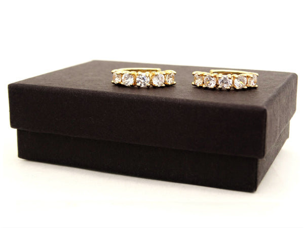 Small gold hoop earrings GIFT BOX