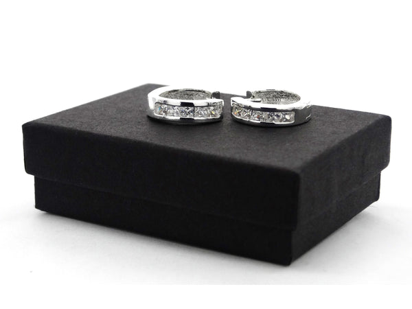 Silver Princess Hoop Earrings
