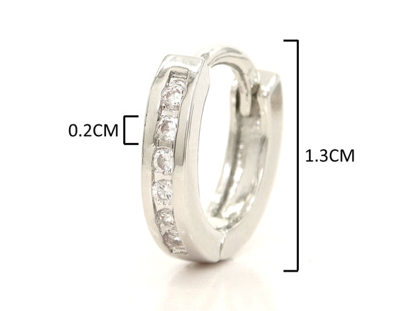 Small silver hoop earrings MEASUREMENT