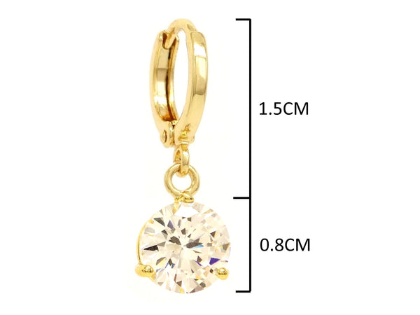 Clear gem gold necklace and earrings MEASUREMENT