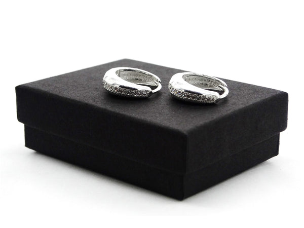 Sterling silver thin hoop earrings GIFT BOX